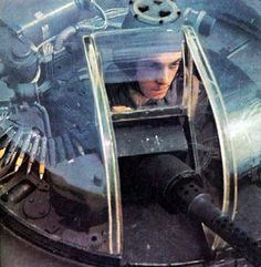 Aircraft gun turret gunner, one dangerous job. They always got hit