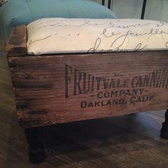 Vintage Crate DIY Footstool