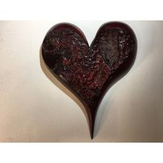 Heart wall hanging special wood Christmas gift Myrtlewood present by... ($75) ❤ liked on Polyvore featuring home, home decor, wooden home decor, myrtlewood, heart home decor, wood home decor and handmade home decor