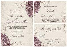 Vintage Wedding Invitation Suite, Secret Garden Set. $2.75, via Etsy.