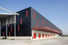 Image 3 of 7 Gallery Panels Insulators - Sandwich Wall Wavy Cladding Design, Metal Cladding, Facade Design, Exterior Design, Industrial Sheds, Parque Industrial, Industrial Architecture, Factory Architecture, Facade Architecture