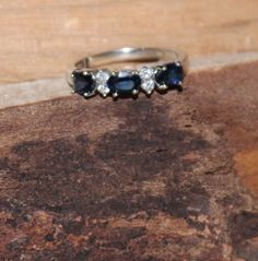 Vintage Sterling Silver Topaz Eternity Stacking by TreasuresFromUs
