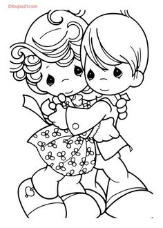 Boy And Girl Embrace