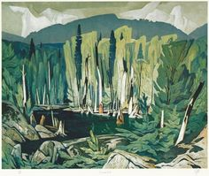 'Ontario: A Complete Set of 30 Prints' by Alfred Joseph Casson at Cowley Abbott Group Of Seven Artists, Group Of Seven Paintings, Canadian Painters, Canadian Artists, Landscape Art, Landscape Paintings, Forest Illustration, Ontario, Wow Art