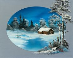 oval barn painting & bob ross oval barn paintings for sale. Shop for bob ross oval barn paintings & bob ross oval barn painting artwork at discount inc oil paintings, posters, canvas prints, more art on Sale oil painting gallery. Winter Scene Paintings, Winter Painting, Bob Ross Paintings, Paintings For Sale, Barn Paintings, Oil Painting Gallery, Art Gallery, Landscape Art, Landscape Paintings