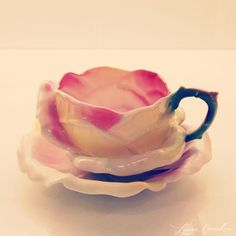 antique rose teacup and saucer
