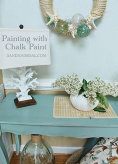 DIY::Painting with Chalk Paint- Great Tutorial For Beginners or Pros ! Chalk paint allows you to paint virtually anything WITHOUT sanding or priming your piece first!