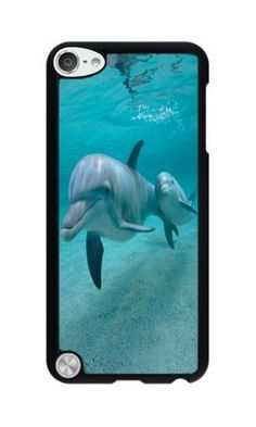 Phone Case Custom iPhone Ipod Touch 5 Phone Case Dolphins Black Polycarbonate…