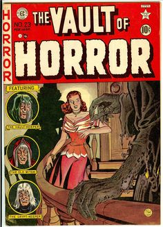 A cover gallery for the comic book Vault of Horror Sci Fi Comics, Horror Comics, Horror Art, Vintage Comic Books, Vintage Comics, Comic Books Art, Comic Art, Vintage Magazines, Creepy Comics