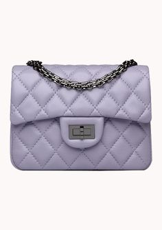 Wholesale Classic Flap mini Bag Lambskin Leather A1115 Purple Designer Shoulder Bags, Lambskin Leather, Adele, Mini Bag, Purses And Bags, Purple, Classic, Shopping, Derby