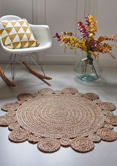 tapis en jute diam 160 cm coloris naturel aft jute. Black Bedroom Furniture Sets. Home Design Ideas