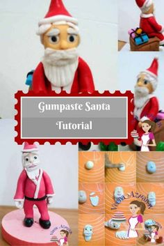 It's amazing how Santa and Snowman can get kids in the Christmas mood this whole season. Mine have to had a gumpaste Santa and a snowman on their cake. Just have to!!! Or it's not a Christmas cake.