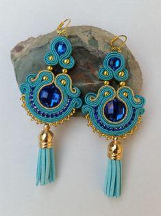 Textile Jewelry, Macrame Jewelry, Fabric Jewelry, Unique Necklaces, Handmade Necklaces, Handmade Jewelry, Quartz Necklace, Gemstone Necklace, Soutache Pattern