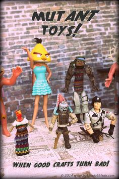 RECYCLE OLD TOYS!!!! Crafty Halloween Ideas: Make your own MUTANT TOYS from leftover toy parts!