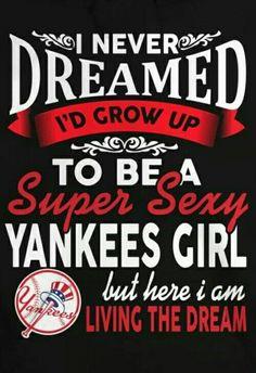 Yankees Baby, Shirt Ideas, Signs, T Shirt, Supreme T Shirt, Tee Shirt, Shop Signs, Tee, Sign