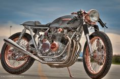 Honda cafe racer that we are shooting for.  Already got the bike, just need to rip it down and build it!