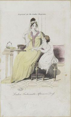 The Ladies Magazine. London Fashionable Dress.  1807?