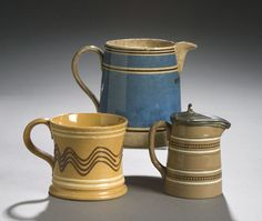 Three Pieces of Mocha Ware, - Cowan's Auctions