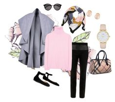 """""""Put on your positive pants."""" by grownuppaperdolls ❤ liked on Polyvore featuring Universal Lighting and Decor, Gianvito Rossi, TIBI, H&M, Jil Sander, Burberry, Kate Spade, Kenneth Jay Lane and Yves Saint Laurent"""