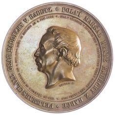 AE-Medaille 1859 Radetzky, Med: Seidan, auf die Errichtung des FM Graf Radetzky Denkmals in Prag