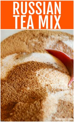 Get all the ingredients needed to make a Russian tea mix, also known as friendship tea. Create a mason jar gift with this orange tea mix which makes a great homemade holiday gift this season!