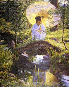 In A Japanese Garden, Lilla Cabot Perry