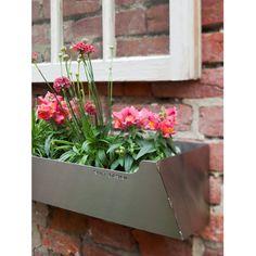 Amazon.com : Shift Space Design Edgley Rectangle Metal Window Box Planter : Patio, Lawn & Garden