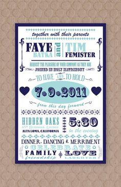 A fun and rustic-vintage-chic invitation (love it!)