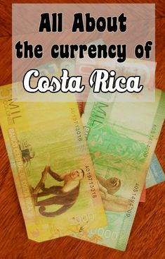 Learn all about the colorful currency of Costa Rica and the exchange rate. Includes tips for handling money in Costa Rica Voyage Costa Rica, Costa Rica Travel, Fortuna Costa Rica, Jamaica, Costa Rica Adventures, Costa Rico, Living In Costa Rica, Bahamas, Tamarindo