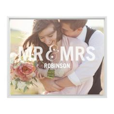 Mr And Mrs Framed Canvas Print