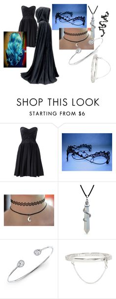 """Eyeless"" by eyeless-angel-of-death ❤ liked on Polyvore featuring Notte by Marchesa, Bling Jewelry, Anne Sisteron, Eddie Borgo and bleu"
