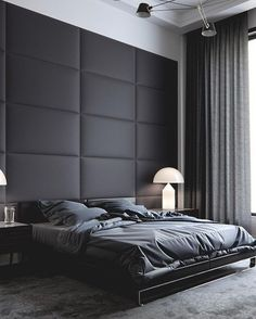 Pretty Bedroom furniture - What is the ideal bedroom design? Men's Bedroom Design, Bedroom Wall Designs, Home Decor Bedroom, Men Bedroom, Master Bedroom, Girl Bedrooms, Bedroom Designs For Couples, Bedroom Black, Bedroom Furniture