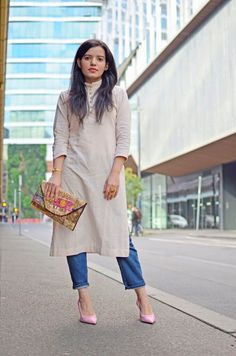 Make it look effortless with these tips!  Rock Desi Fusion Wear At Work