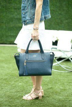 GiGi New York   Navy Grace Satchel   Life With Emily Fashion Blog