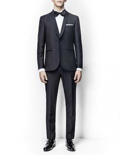 Tiger of Sweden Mens Tailored Suits, Mens Suits, Tuxedo Suit, Tuxedo For Men, Tiger Of Sweden, Suit And Tie, Black Satin, Suit Jacket, Trousers