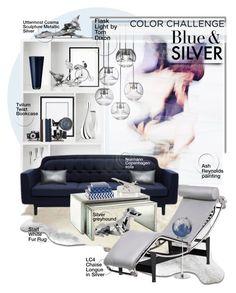 """Blue & Silver Home Decor!"" by sg-art ❤ liked on Polyvore featuring interior, interiors, interior design, home, home decor, interior decorating, Yerra, Tvilum, Greggio and Normann Copenhagen"