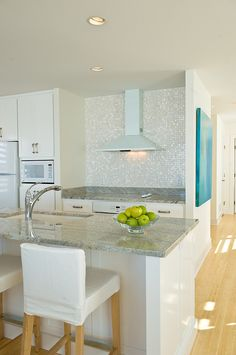 By Andrea Swan   Swan Architecture   Love That Oyster Shell Mosaic  Backsplash