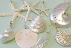 seashell ornaments with swarovski crystals- pretty and beachy