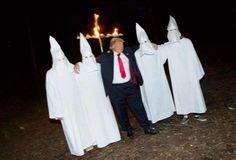 Trump with his crew.