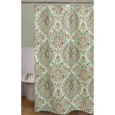 Product Image For WaterfordR Jonet Shower Curtain In Cream Aqua