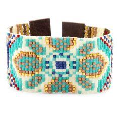 Turquoise Mix Beaded Cuff Bracelet - Chan Luu
