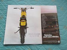 Carx Circa 1974 Yamaha YZ250 Motorcycle Sales Brochure | eBay