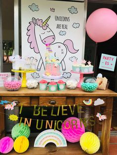 Party - es +'s Birthday / Unicorn - Photo Gallery at Catch My Party Girls Birthday Party Themes, Unicorn Birthday Parties, Girl Birthday, Birthday Cake, Unicorn Photos, Birthday Cakes, Birthday Cookies