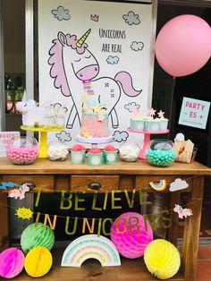 Party - es +'s Birthday / Unicorn - Photo Gallery at Catch My Party Girls Birthday Party Themes, Unicorn Birthday Parties, Girl Birthday, Birthday Cake, Unicorn Photos, Birthday Cakes, Cake Birthday