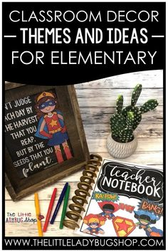 Affordable and functional classroom decor ideas for elementary classrooms! These tips and ideas are budget-friendly for you to DIY. Make setting up your classroom easy and fun with these ready-made classroom decor bundles. This decor not only makes your room look adorable, it also helps you stay organized. Whether you're ready to start your year off with farmhouse decor, an emoji theme, or other themed decor, you'll be ready to go in no time! #thelittleladybugshop