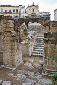 Ancient Ruins in Lecce, Apulia, Italy