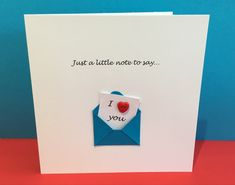 Valentines Day Card - Cute Button Card - Wedding A Husband Valentine, Birthday Gifts For Husband, Anniversary Gifts For Husband, Valentines, Anniversary Boyfriend, Valentine Cards, Wedding Anniversary Greeting Cards, Wedding Cards, Handmade Greetings