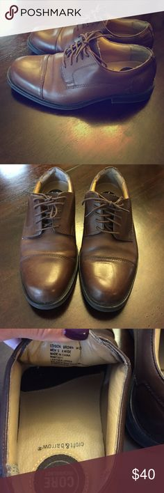 Men's 8W Croft & Barrow Dress Shoes These are men's size 8 wide dress shoes. They are in great condition, very clean, no scuffs or marks, no tears, the inside and bottoms are pretty much brand new as they were worn once. croft & barrow Shoes
