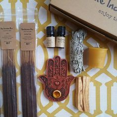 Enjoy awesome incense and essential oil fragrances monthly. Free incense tray in your first box! Yoga Gifts, Incense Burner, Monthly Subscription Boxes, Gift Baskets, Essential Oils, Fragrance, Just For You, Candles, Witches