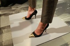 Metal cap toe heels at Kate Spade Fall 2013